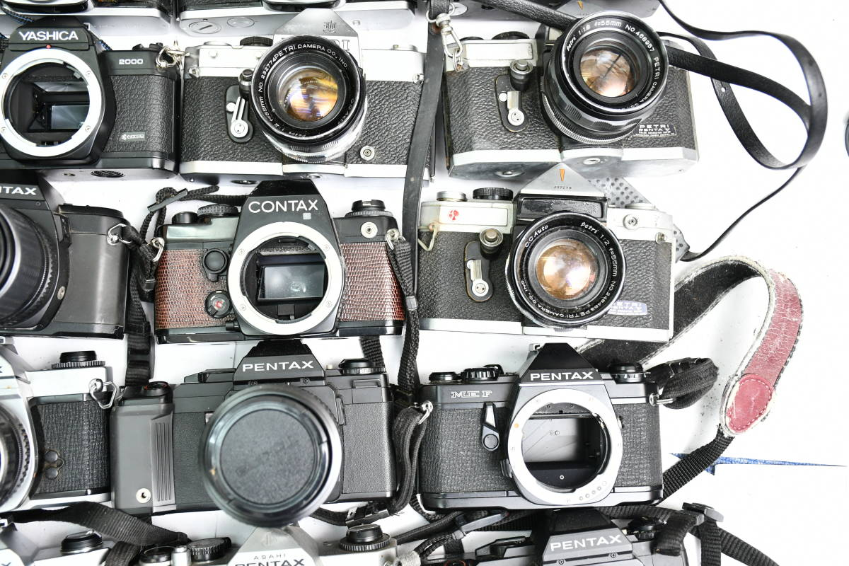 S12 #1 オリンパス ペンタックス コンタックス 等 OM20 XR500 KM Penta A3 FX-3 他 一眼レフカメラ レンズ まとめ まとめて 大量 セット_画像6