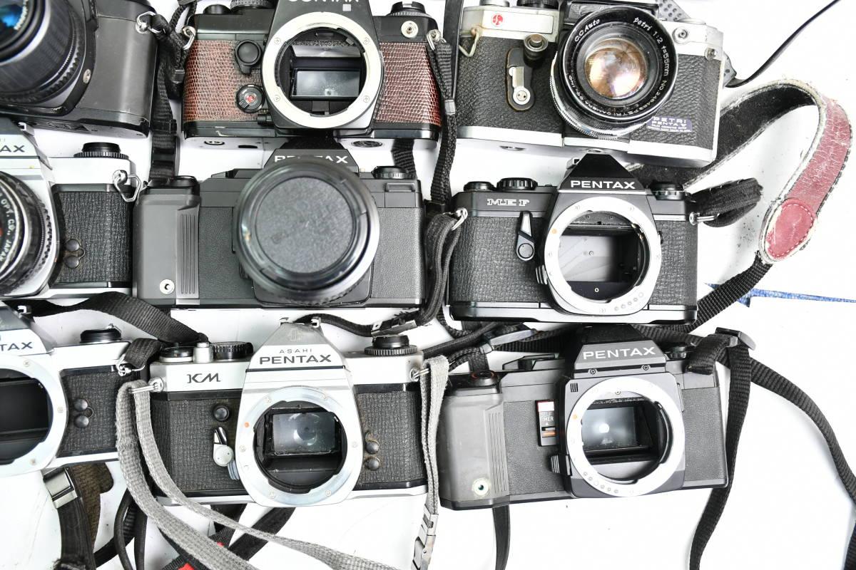 S12 #1 オリンパス ペンタックス コンタックス 等 OM20 XR500 KM Penta A3 FX-3 他 一眼レフカメラ レンズ まとめ まとめて 大量 セット_画像7