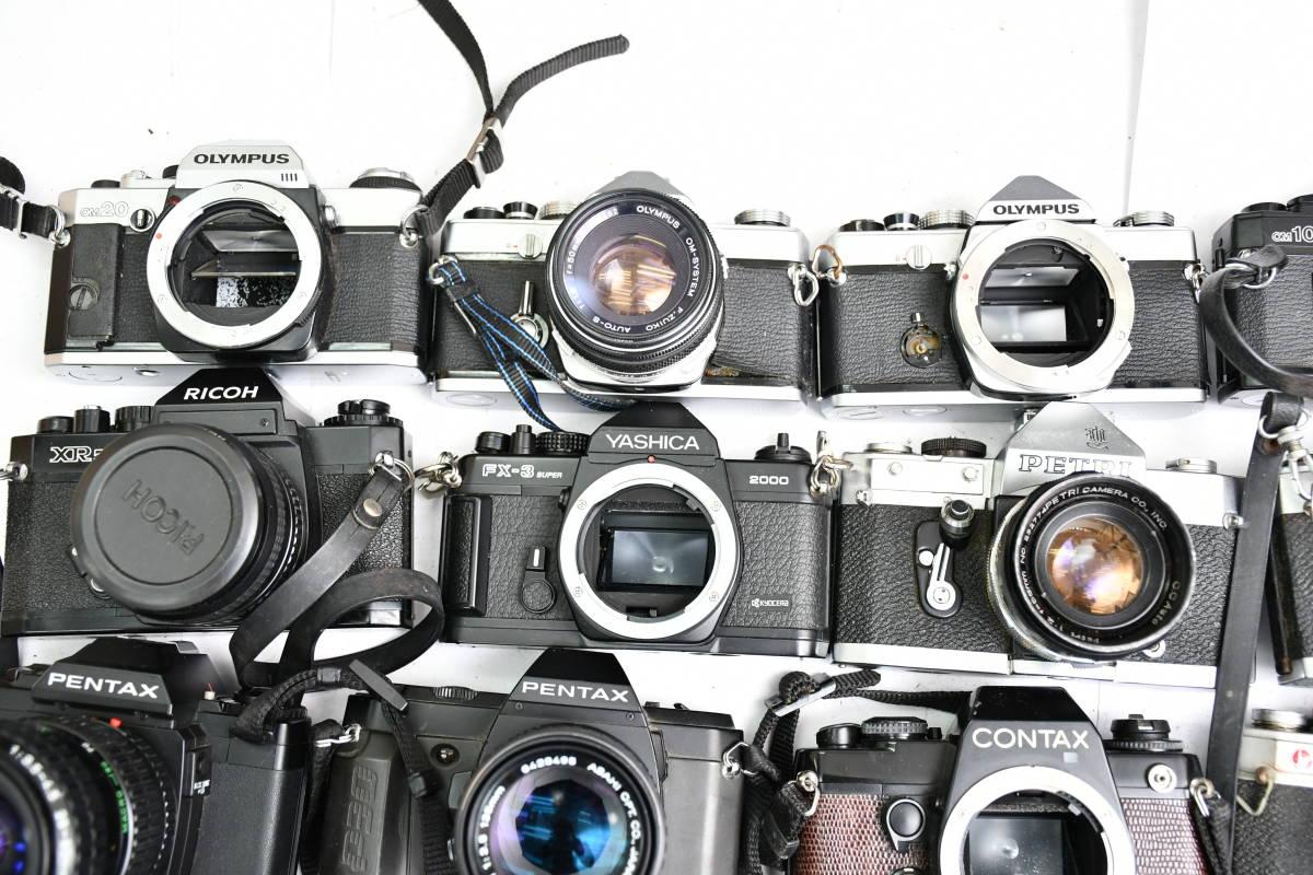 S12 #1 オリンパス ペンタックス コンタックス 等 OM20 XR500 KM Penta A3 FX-3 他 一眼レフカメラ レンズ まとめ まとめて 大量 セット_画像2