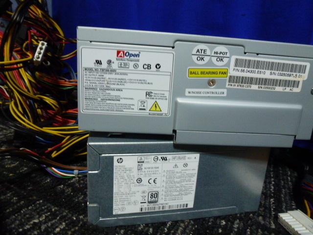 送料無料 自作PCセット H170 pro/P7P55D/他3枚 RADEON HD5870 HD7750 グラボ5枚/メモリ6枚/1TB HDD/電源ユニット5台/ジャンクにて_画像8