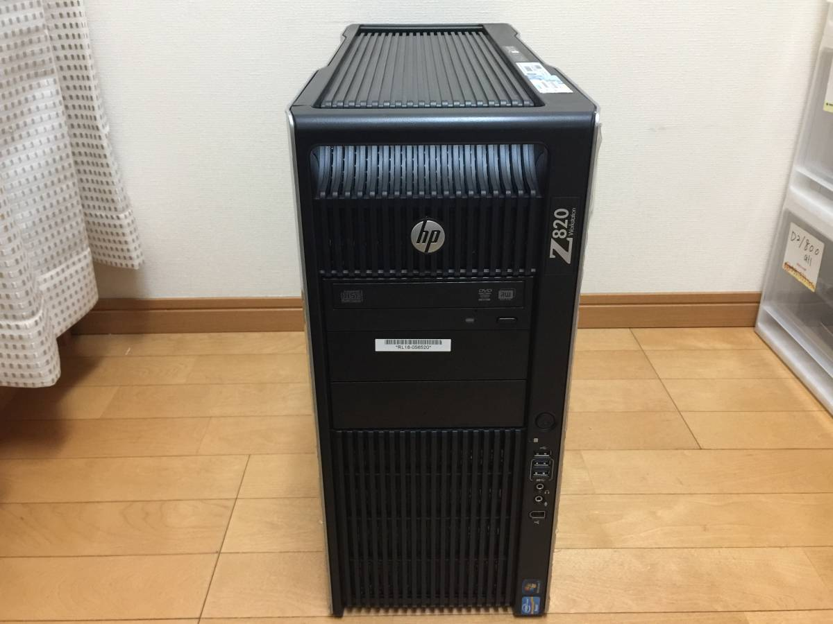 superior article! total 16 core HP Z820 E5-2687W V2*2 piece / water cooling / memory 32GB/HDD500GB+2TB/QUADRO K5000/WIN10P/
