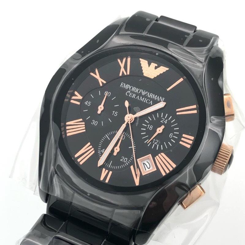 1aa90e0c42 代購代標第一品牌- 樂淘letao - 新品未使用EMPORIO ARMANI エンポリオアルマーニAR1400 セラミカクロノグラフブラック腕時計