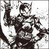 m0128u - 一番くじ 仮面ライダージオウ vol.2(B賞-10)墨式ハンドタオル ビルド