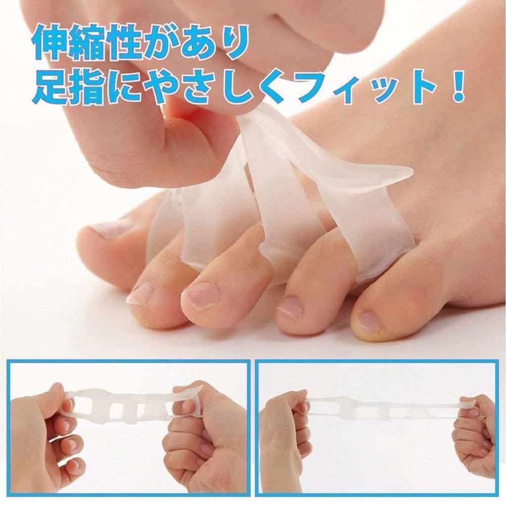 ♪♪足指 サポーター 2個セット 5本指タイプ 高品質シリコン 外反母趾対策 足指矯正パッド 男女兼用 フットケア♪♪(0)_画像3