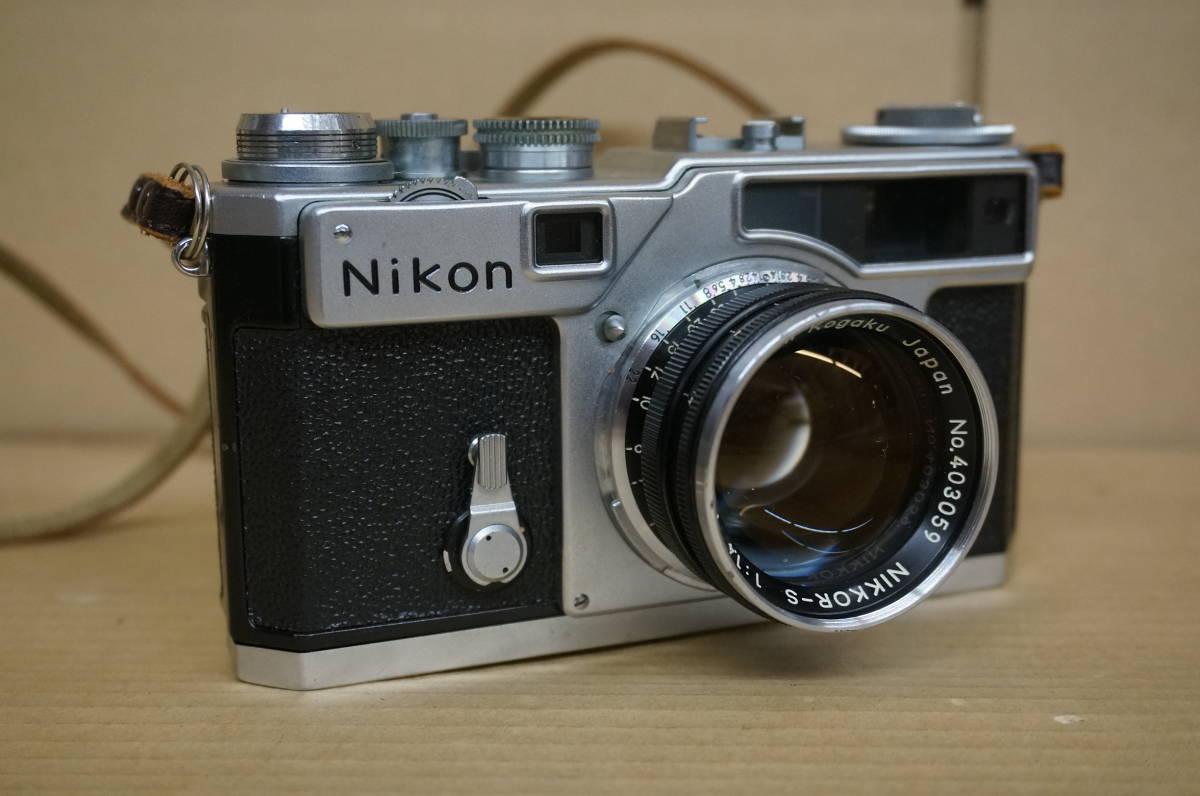 ニコン レンジファインダー SP+nikkor-s F1.5/5cm 中古美品