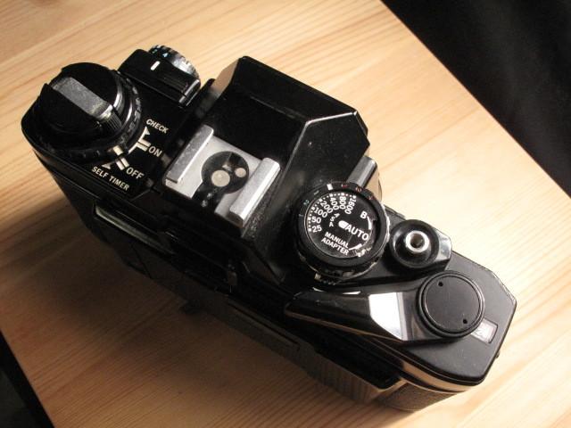 オリンパス★「OLYMPUS OM-10 :ブラックペイント」~作動品、マニュアルアダプター&DATE付属 ZUIKO、Nikon,Canon,PENTAX,MINOLTA好きにも_画像5