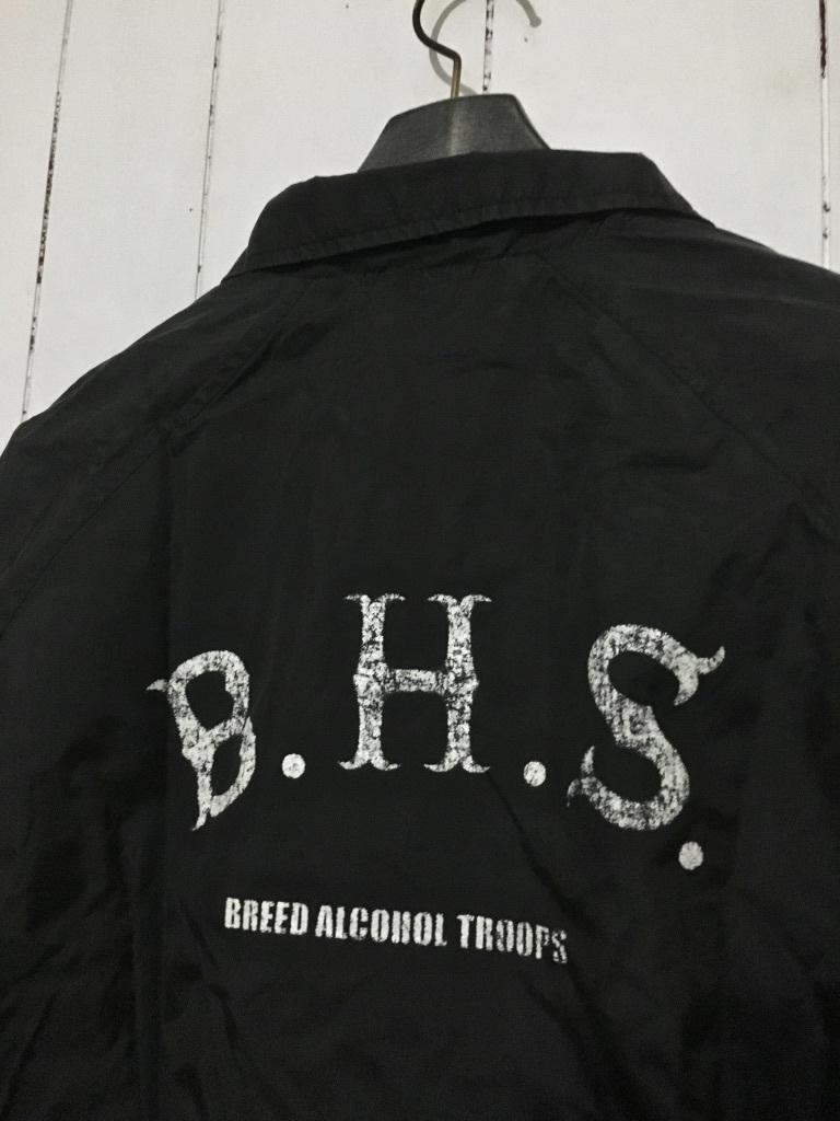 希少 初期☆HIDE AND SEEK×Dickies ハイドアンドシーク×ディッキーズ コーチジャケット 黒 M ブラック B.H.S HIDE&SEEK_画像6