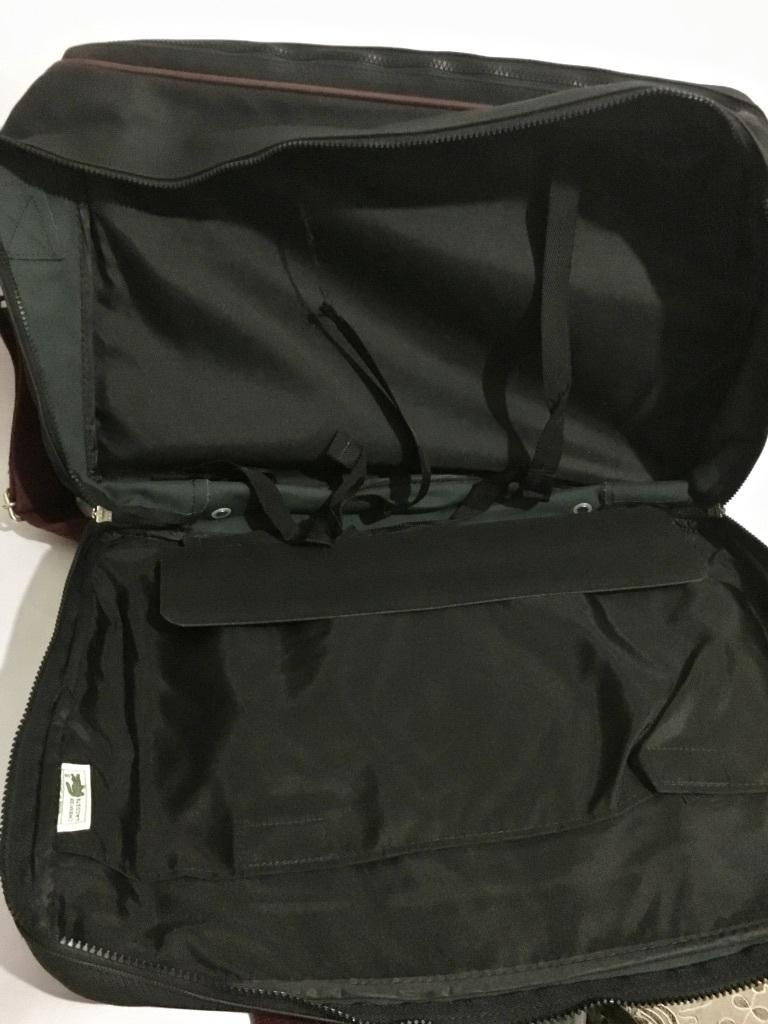 80's~90's ビンテージ☆LACOSTE ラコステ ショルダーバッグ ワニロゴ 日本製 オールド トラベルバッグ 旅行バッグ 特大 大容量 ネイビー_画像10