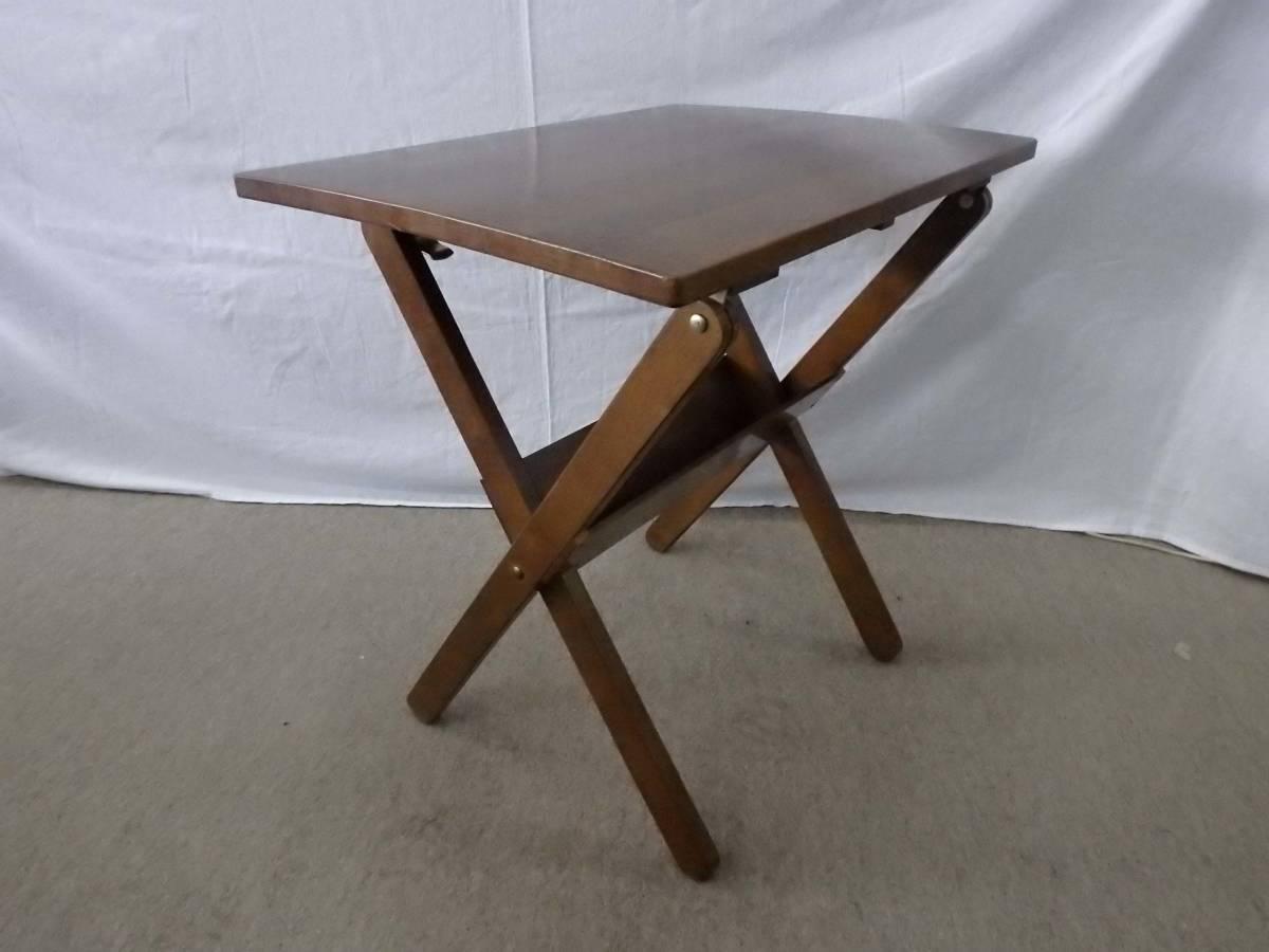 【アウトレット品】光製作所 ダイニングテーブルセット カフェテーブルセット 3点セット 折りたたみ式 DBR色_画像6
