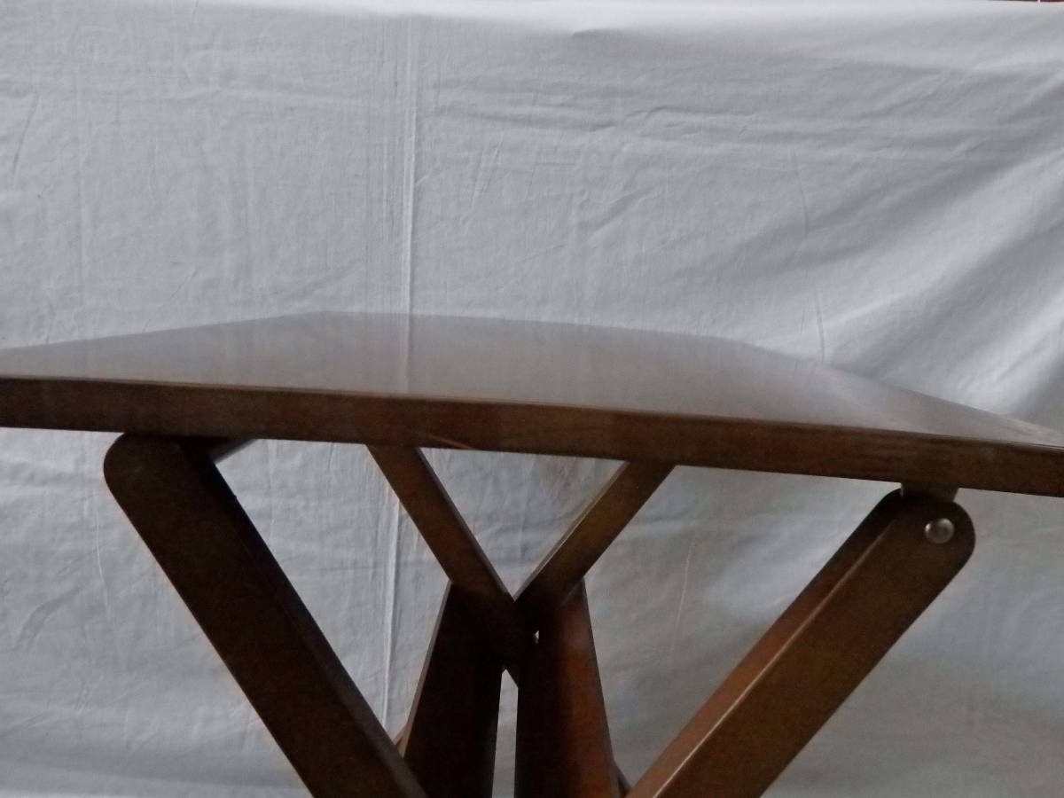 【アウトレット品】光製作所 ダイニングテーブルセット カフェテーブルセット 3点セット 折りたたみ式 DBR色_画像8