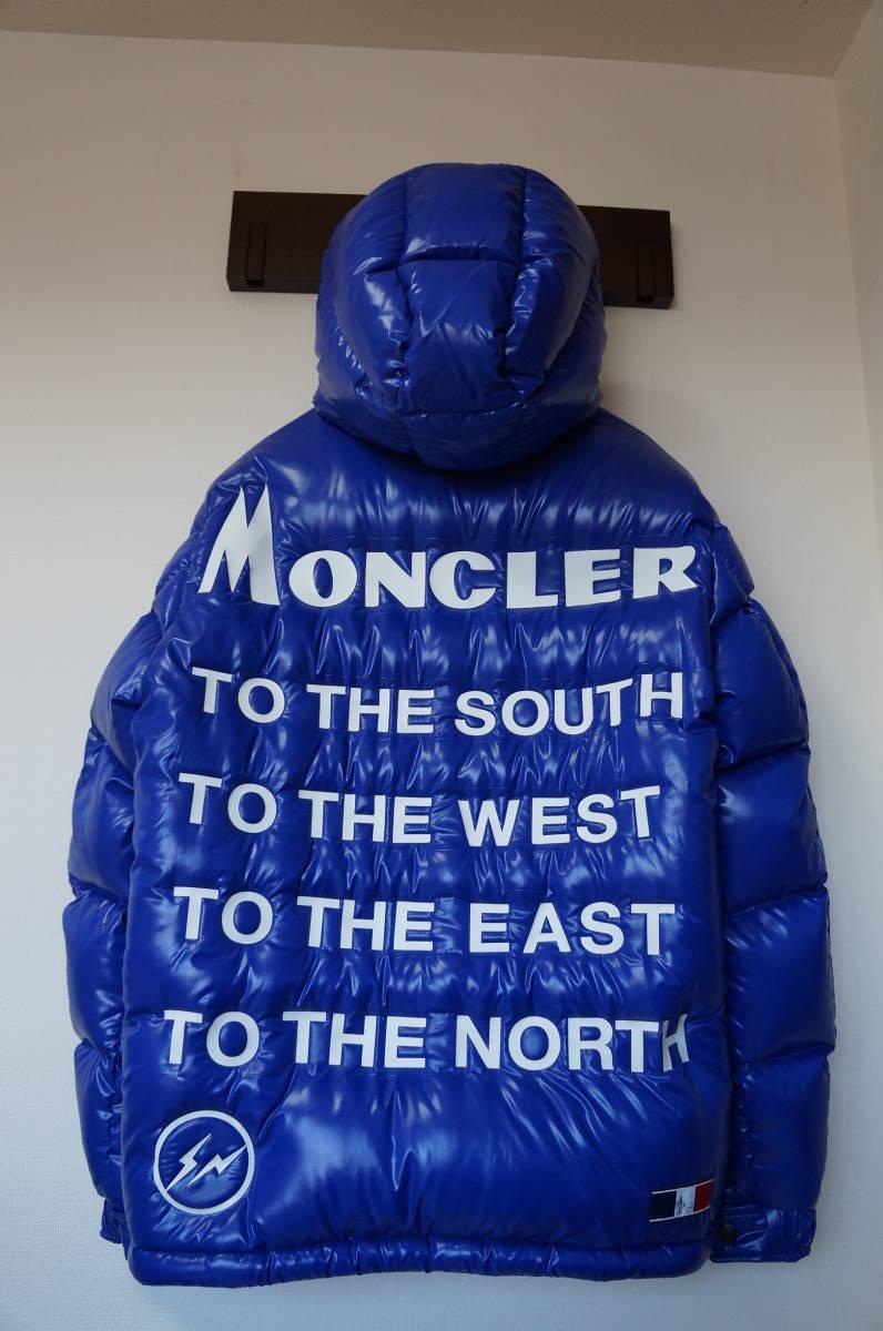 送料無料 正規店購入 MONCLER × FRAGMENT マキノン サイズ1 ブルー 青 モンクレール フ