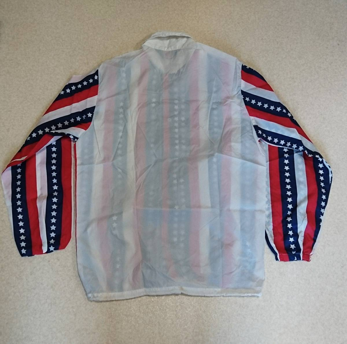 70s PIA-JAC ウインドブレーカー アメリカ国旗 36-38MADE IN USA ビンテージ _画像5