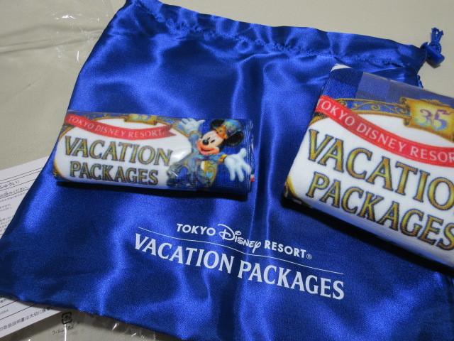 ディズニー オリジナルタオルセット サテン地きんちゃく付き 35周年限定デザイン バケーションパッケージ限定 _画像3