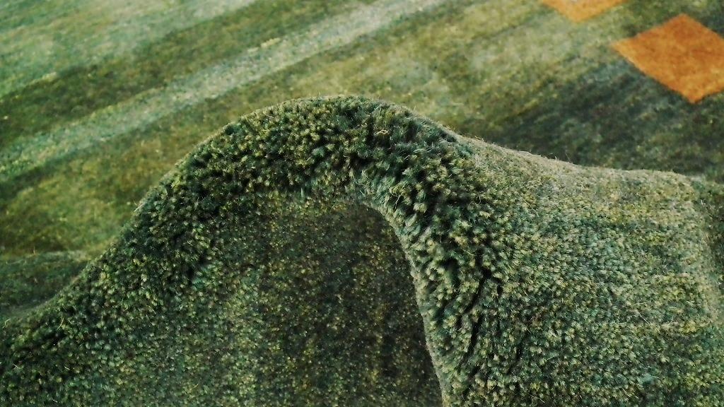 ◆ペルシャギャッベ◆手織り手紡ぎ◆GABBEHギャッベ◆カーペット◆イラン◆ペルシャ絨毯◆リビングサイズビッグ 148cmx198cm LV854_画像3