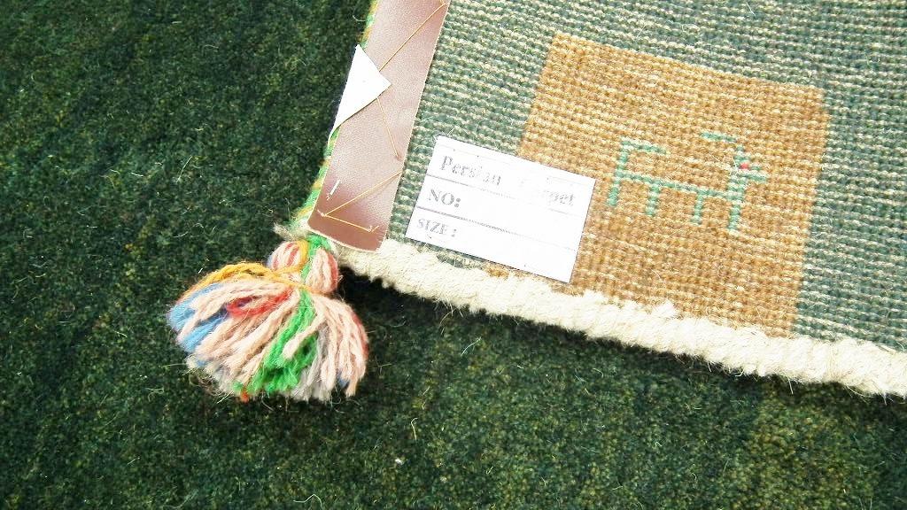 ◆ペルシャギャッベ◆手織り手紡ぎ◆GABBEHギャッベ◆カーペット◆イラン◆ペルシャ絨毯◆リビングサイズビッグ 148cmx198cm LV854_画像5