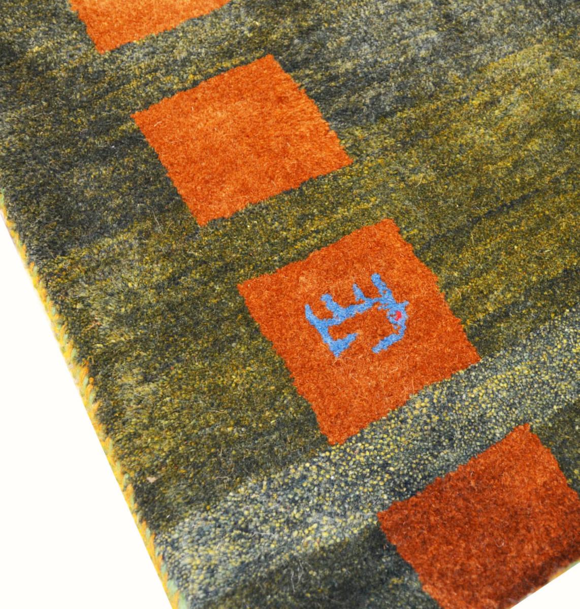 ◆ペルシャギャッベ◆手織り手紡ぎ◆GABBEHギャッベ◆カーペット◆イラン◆ペルシャ絨毯◆リビングサイズビッグ 148cmx198cm LV854_画像2