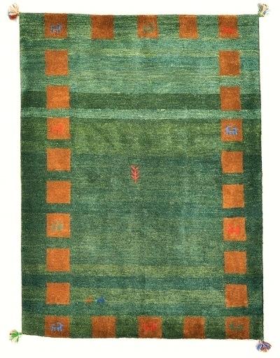 ◆ペルシャギャッベ◆手織り手紡ぎ◆GABBEHギャッベ◆カーペット◆イラン◆ペルシャ絨毯◆リビングサイズビッグ 148cmx198cm LV854_画像1