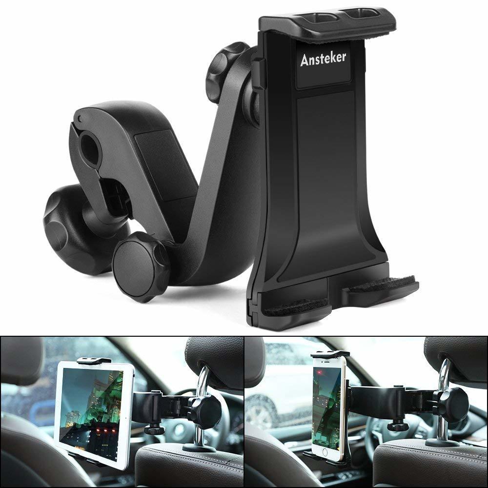 【新品 大人気】タブレットホルダー オーディオ 車載ホルダー 調節 360度回転式 車 タブレット スマホ 工具不要で取付可能 ポイント消化_画像2
