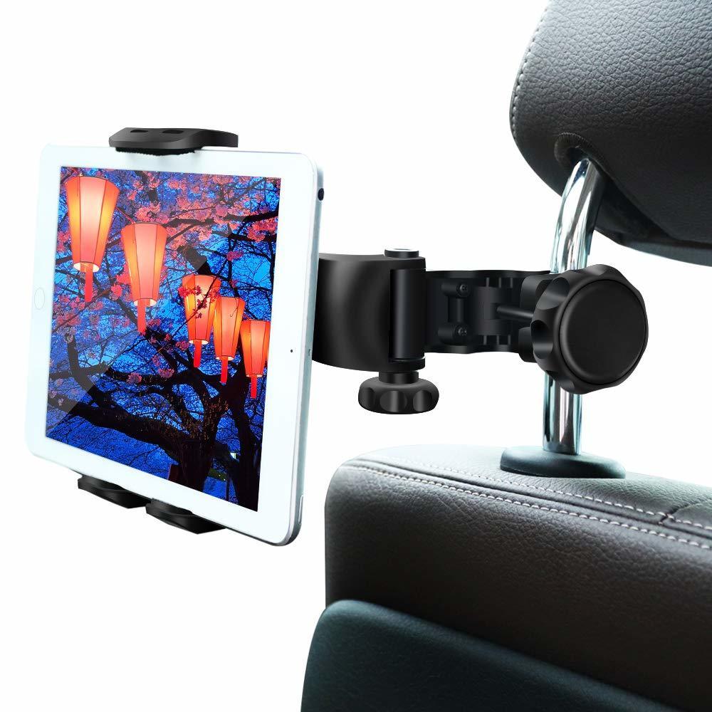 【新品 大人気】タブレットホルダー オーディオ 車載ホルダー 調節 360度回転式 車 タブレット スマホ 工具不要で取付可能 ポイント消化_画像10