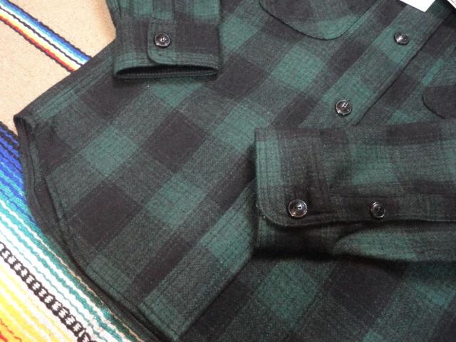 【フェローズ】GREEN/L Pherrow's バッファローチェックシャツ 長袖ウールシャツ 14W-PWSJ1_画像3
