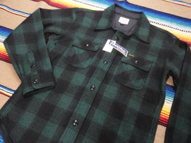 【フェローズ】GREEN/L Pherrow's バッファローチェックシャツ 長袖ウールシャツ 14W-PWSJ1_画像2