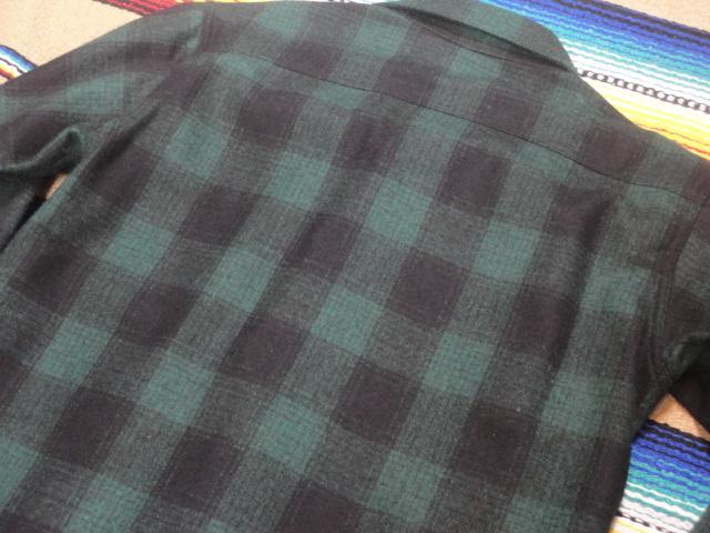 【フェローズ】GREEN/L Pherrow's バッファローチェックシャツ 長袖ウールシャツ 14W-PWSJ1_画像6