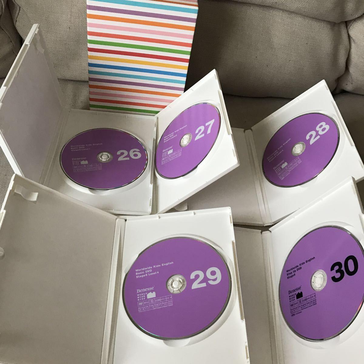 美品 ワールドワイドキッズ DVD stage6 ステージ6 5枚 英語 教材 ベネッセ WKE_画像3