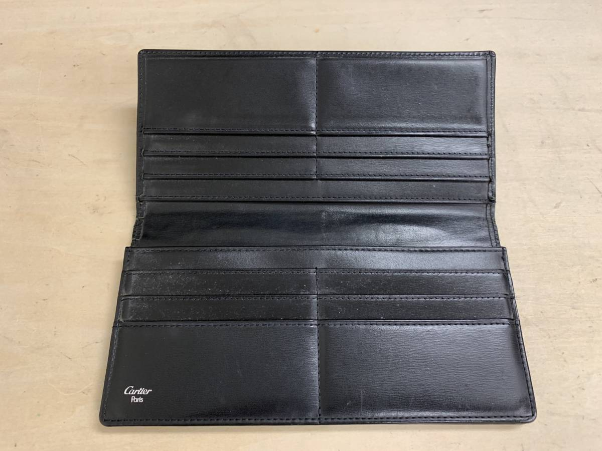 8968d478677e 代購代標第一品牌 - 樂淘letao - A15b09R Cartier 長財布 二つ折り 黒 メンズ ウォレット カルティエ