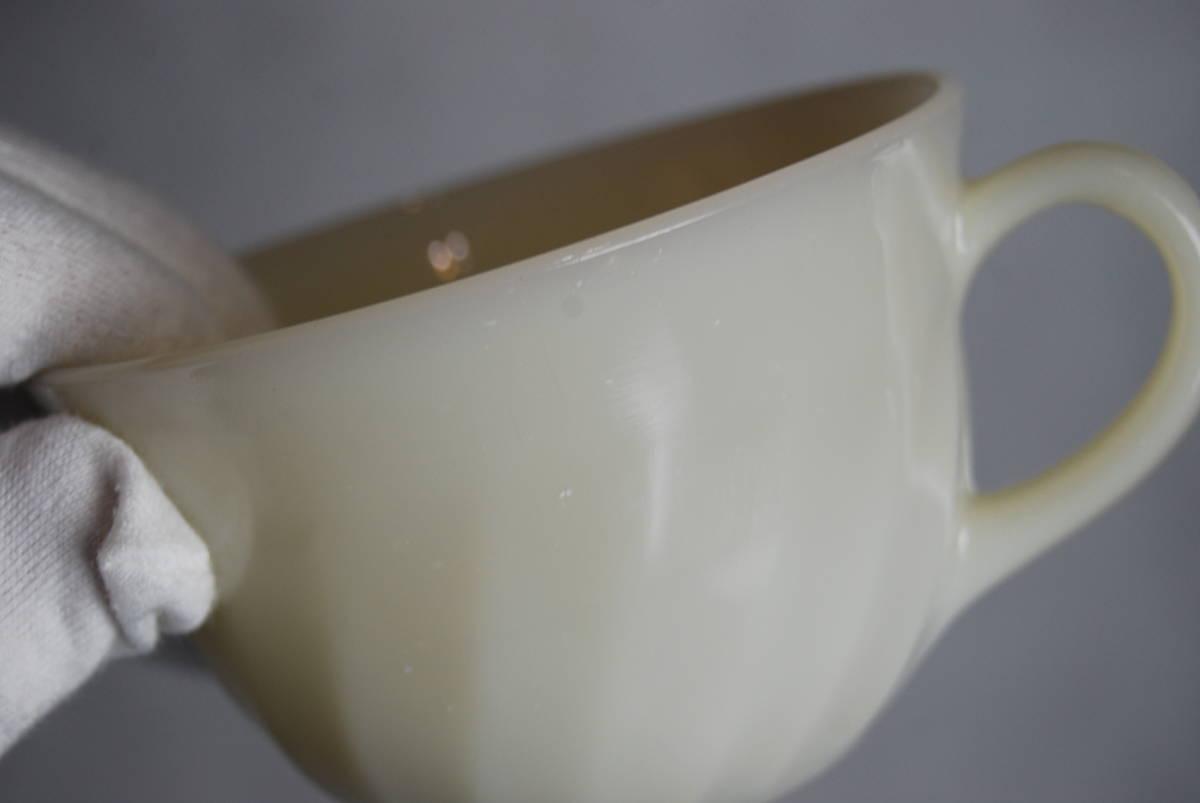 ファイヤーキング アイボリー スワール カップ・ソーサー 2客セット アンティーク食器_画像8