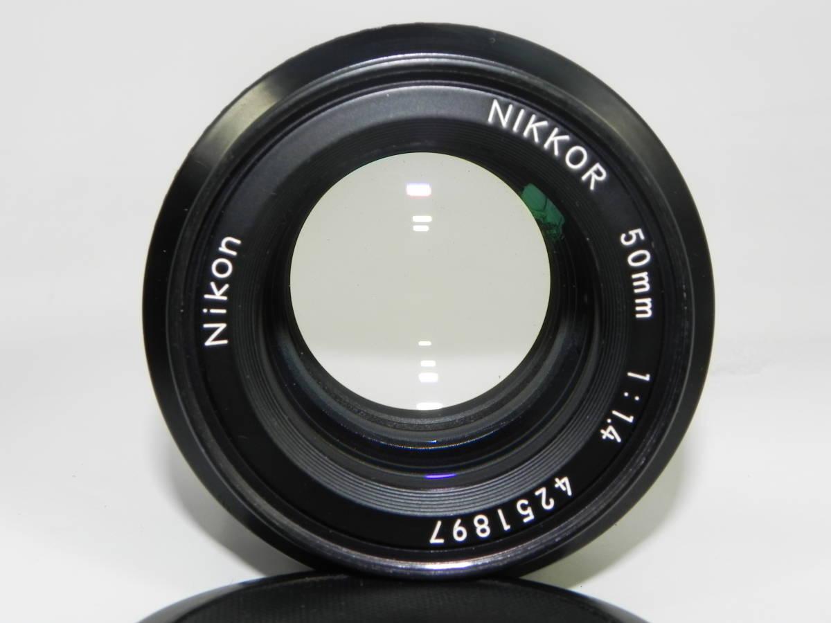 nikon ニコン F2 7747958 + レンズ NIKKOR 50mmF1.4 4251897  希少・美品!_画像5