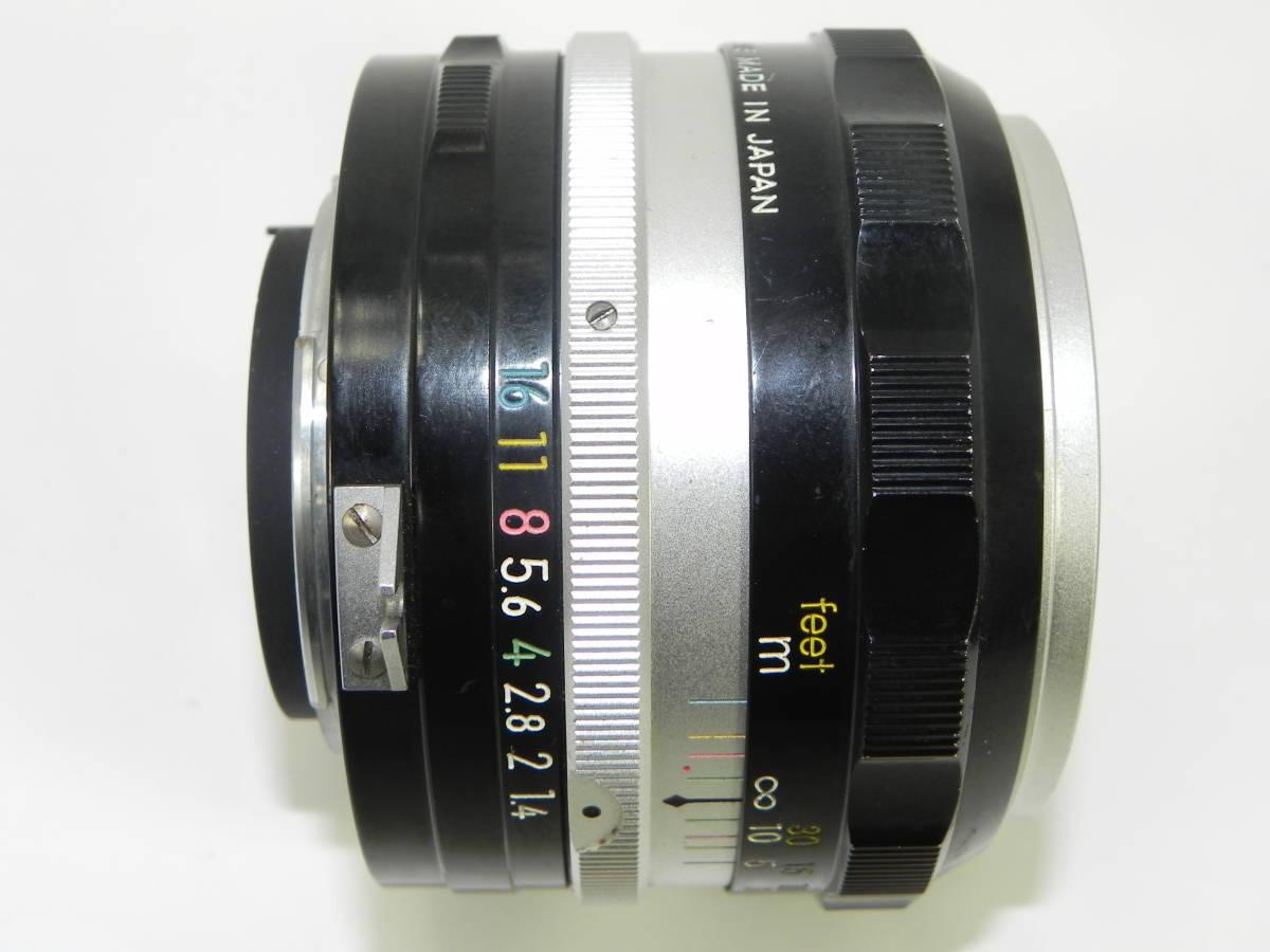 NIKON ニコン F アイレベル 6523104番台 希少 ・ レンズ NIKKORーs 50mmF1.4  850020 往年の名機 希少・美品!_画像5