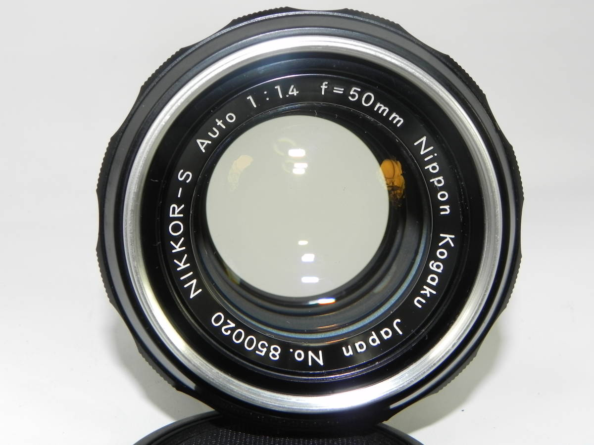 NIKON ニコン F アイレベル 6523104番台 希少 ・ レンズ NIKKORーs 50mmF1.4  850020 往年の名機 希少・美品!_画像3