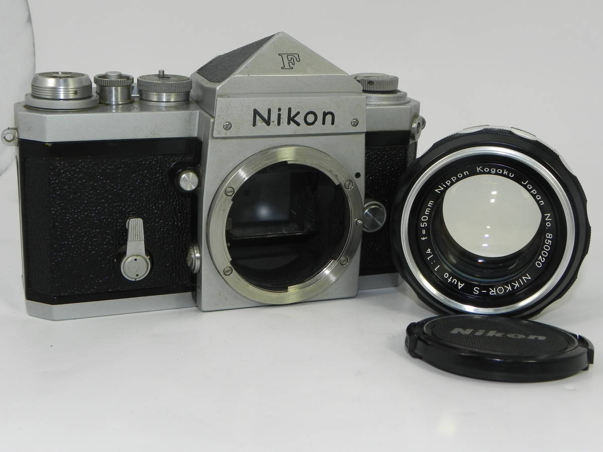 NIKON ニコン F アイレベル 6523104番台 希少 ・ レンズ NIKKORーs 50mmF1.4  850020 往年の名機 希少・美品!_画像2