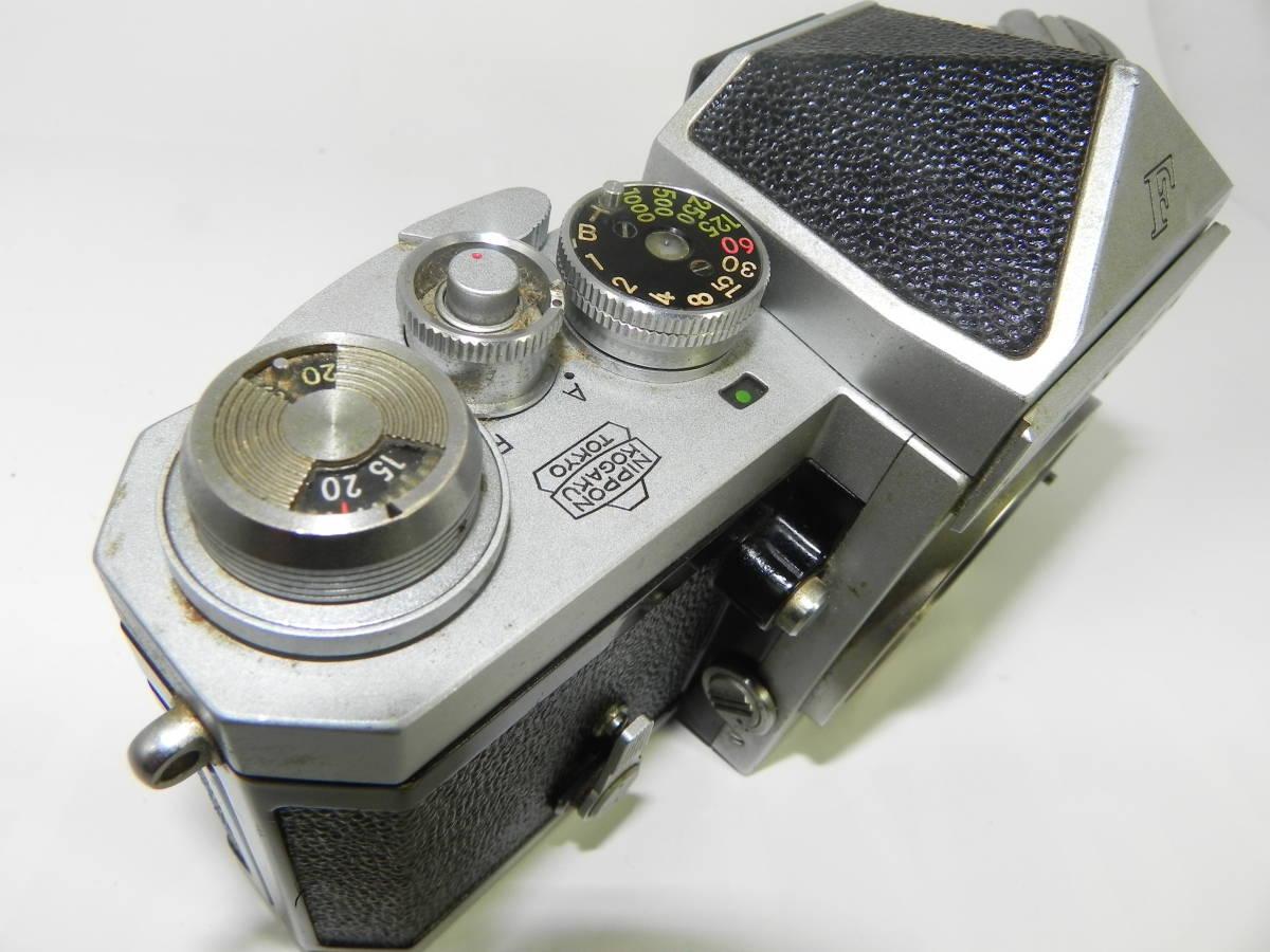 NIKON ニコン F アイレベル 6523104番台 希少 ・ レンズ NIKKORーs 50mmF1.4  850020 往年の名機 希少・美品!_画像8