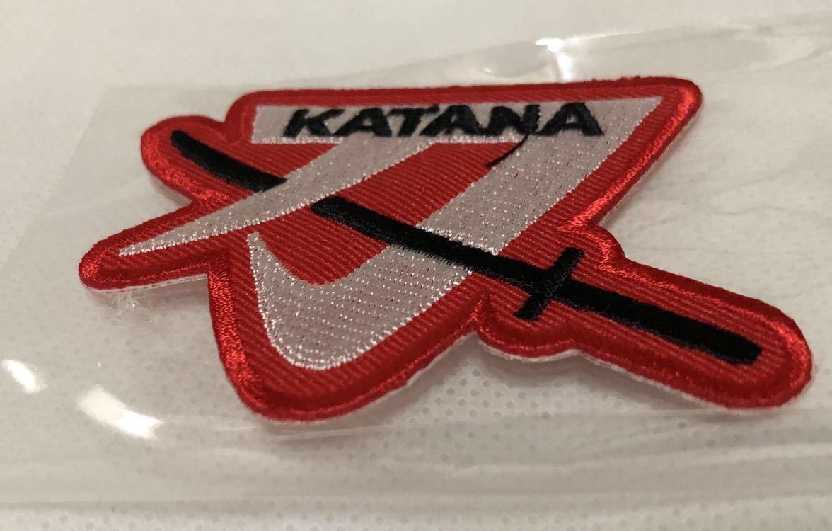 SUZUKI KATANA ロゴ ワッペン スズキ カタナ パッチ 刺繍 GSX1100S 750S 400S