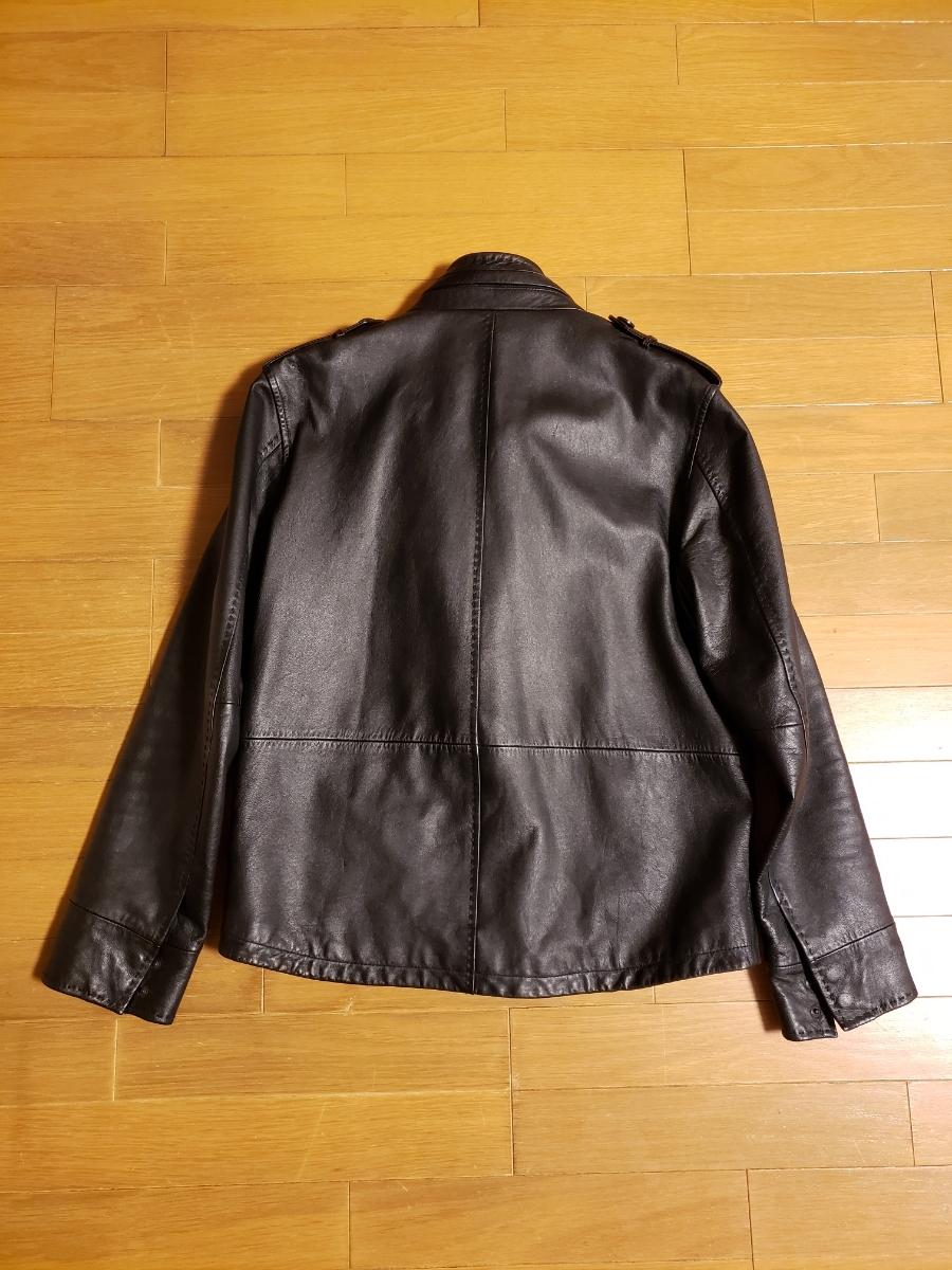お値引きしました☆コムサイズム COMME CA ISM シングルライダース レザージャケット 軽目で柔らかい!山羊革 ブラック_画像3