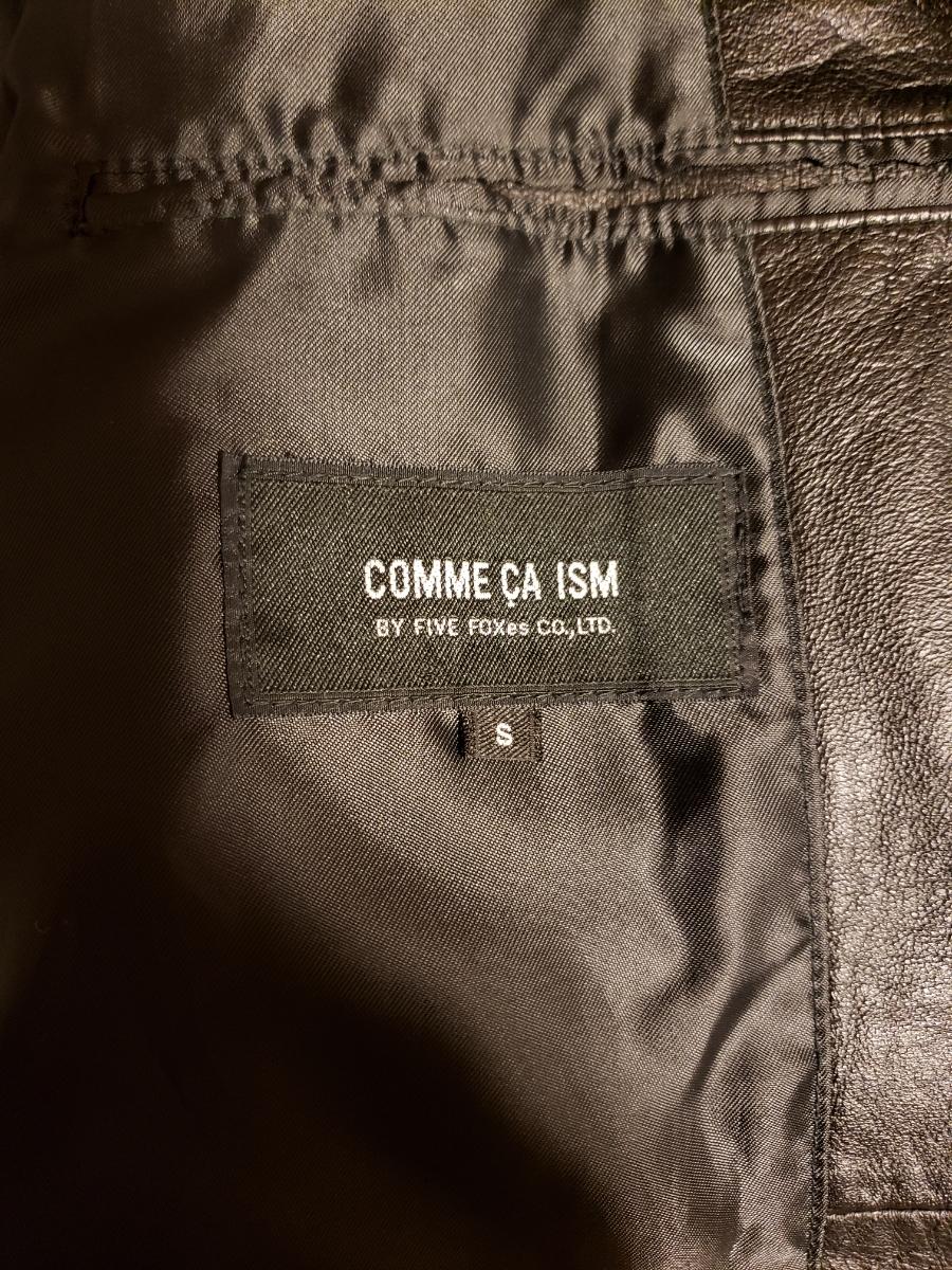 お値引きしました☆コムサイズム COMME CA ISM シングルライダース レザージャケット 軽目で柔らかい!山羊革 ブラック_画像5