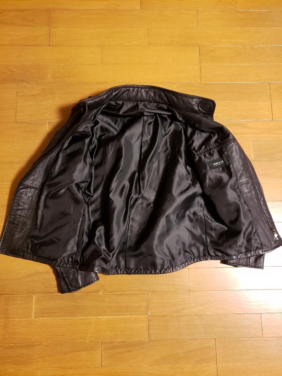 お値引きしました☆コムサイズム COMME CA ISM シングルライダース レザージャケット 軽目で柔らかい!山羊革 ブラック_画像4