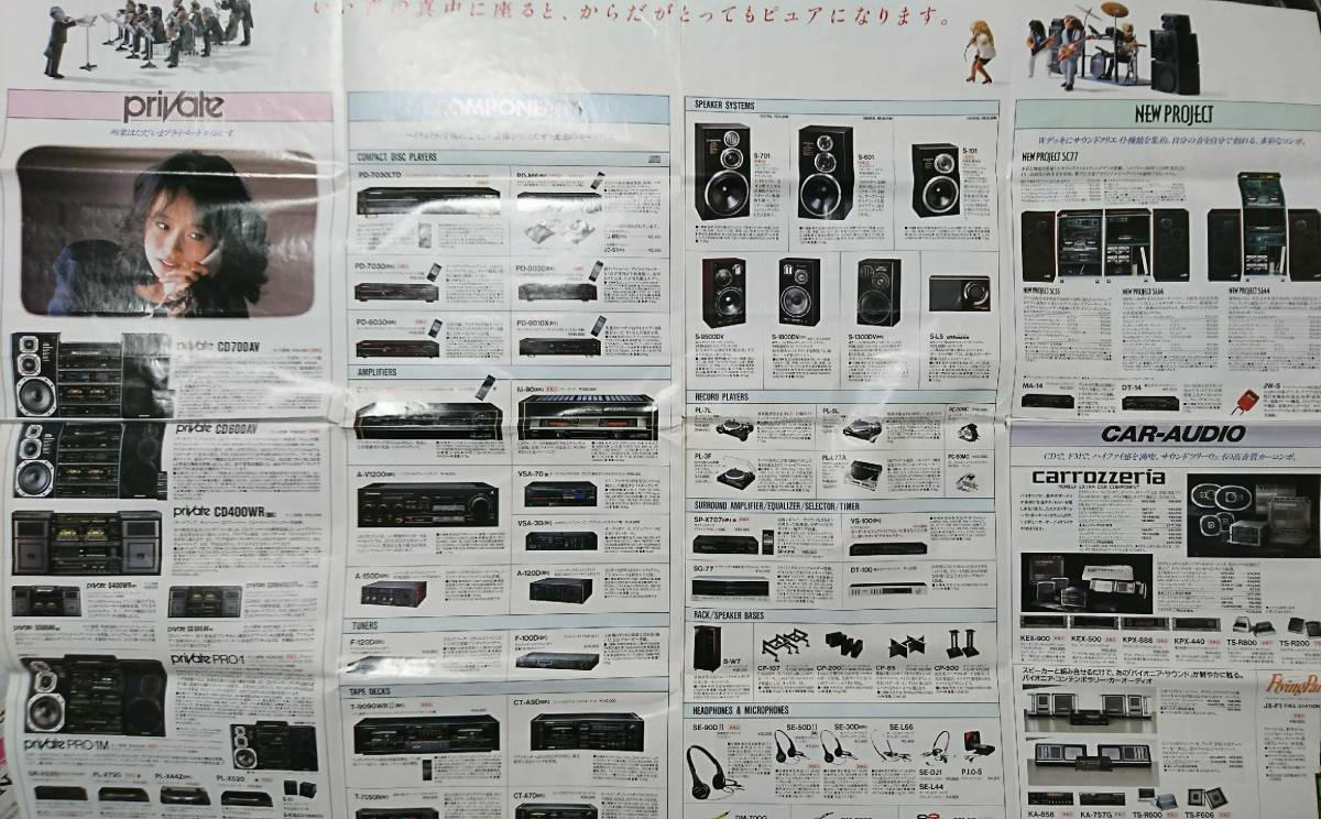 パイオニア pioneer 総合 カタログ 1986 / 11 昭和レトロ_画像2