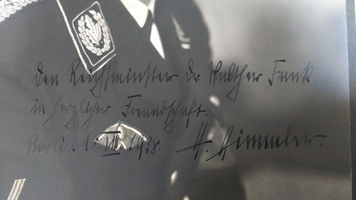 即決・極稀◆ナチス親衛隊長官ハインリヒ・ヒムラー、経済大臣フンク宛献辞サイン入大判ポートレート(証明書付属)ーヒトラー第三帝国_画像5