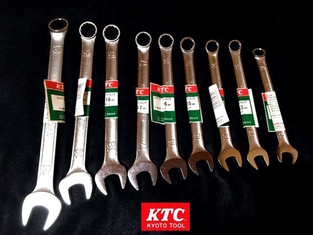 new goods free shipping KTC TOOL combination wrench 9ps @SET MS2