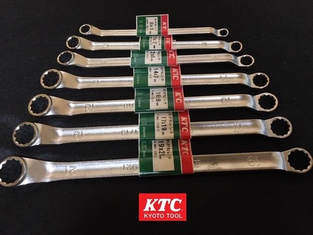 新品 無料発送 KTC TOOL ロングめがねレンチ7本SET M5-(1921・1719・1618・1417・1214・1012・0810)-F 定価¥13,290円