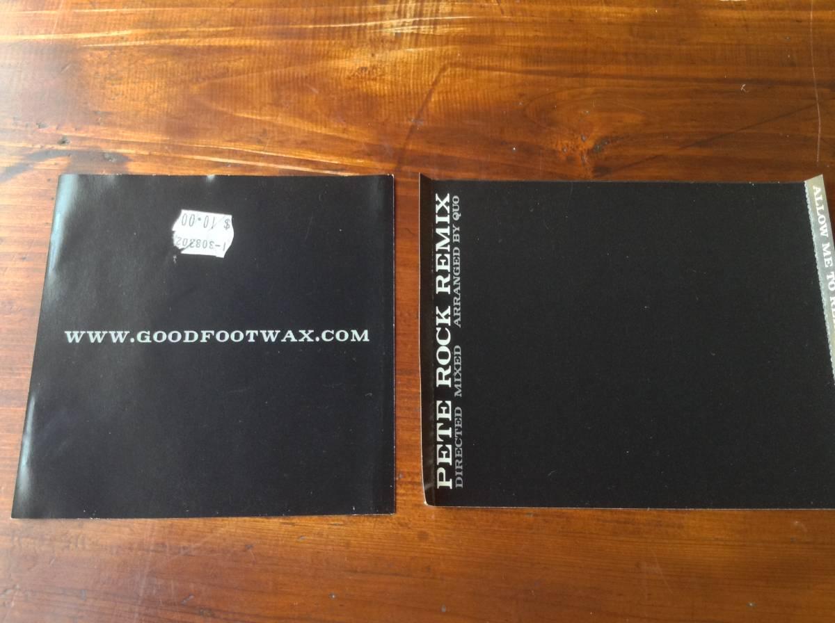 Jay-Z / Pete Rock - The Black Album ( Pete Rock Remix ) / USオリジナル盤 Good Foot Records GFX-002 / 新品 未使用 送料無料 激レア_画像2