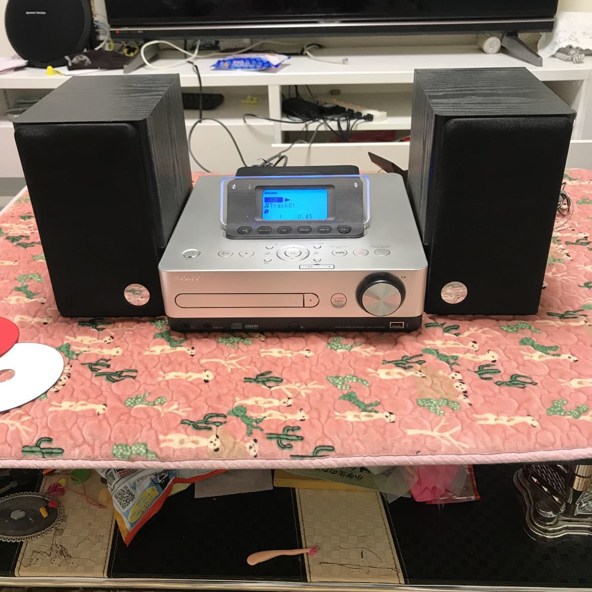 SONY ソニー システムステレオ HDDコンポ CMT-E350HD シルバー 2010年製 音楽 CD ウォークマン リモコン無し 現状お渡し 中古品_画像2