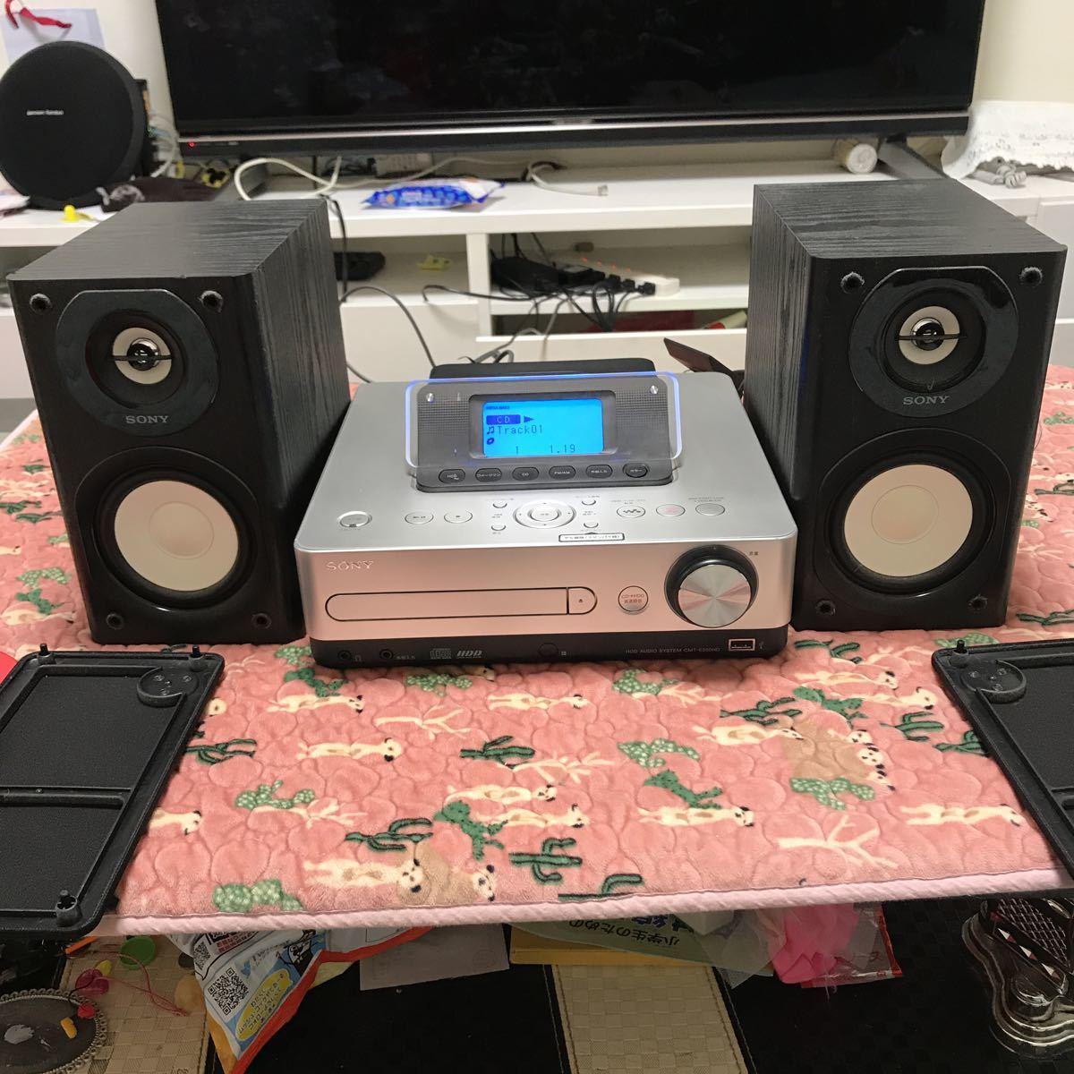 SONY ソニー システムステレオ HDDコンポ CMT-E350HD シルバー 2010年製 音楽 CD ウォークマン リモコン無し 現状お渡し 中古品_画像4
