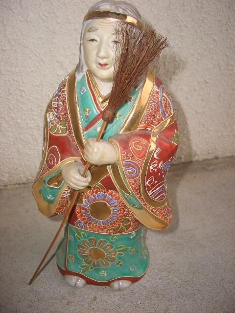 九谷焼 高砂人形 縁起物 陶器製 置物 飾物 インテリア /212_画像1