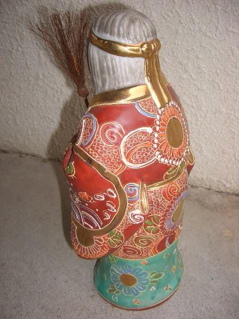 九谷焼 高砂人形 縁起物 陶器製 置物 飾物 インテリア /212_画像2