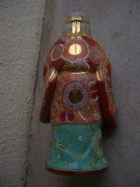 九谷焼 高砂人形 縁起物 陶器製 置物 飾物 インテリア /212_画像4