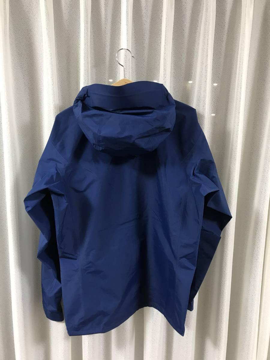◆正規品◆新品未使用◆アークテリクス アルファSL ジャケット メンズ M(L) ゴアテックス マウンテンパーカー ブルー 軽量◆定価46440円_画像3