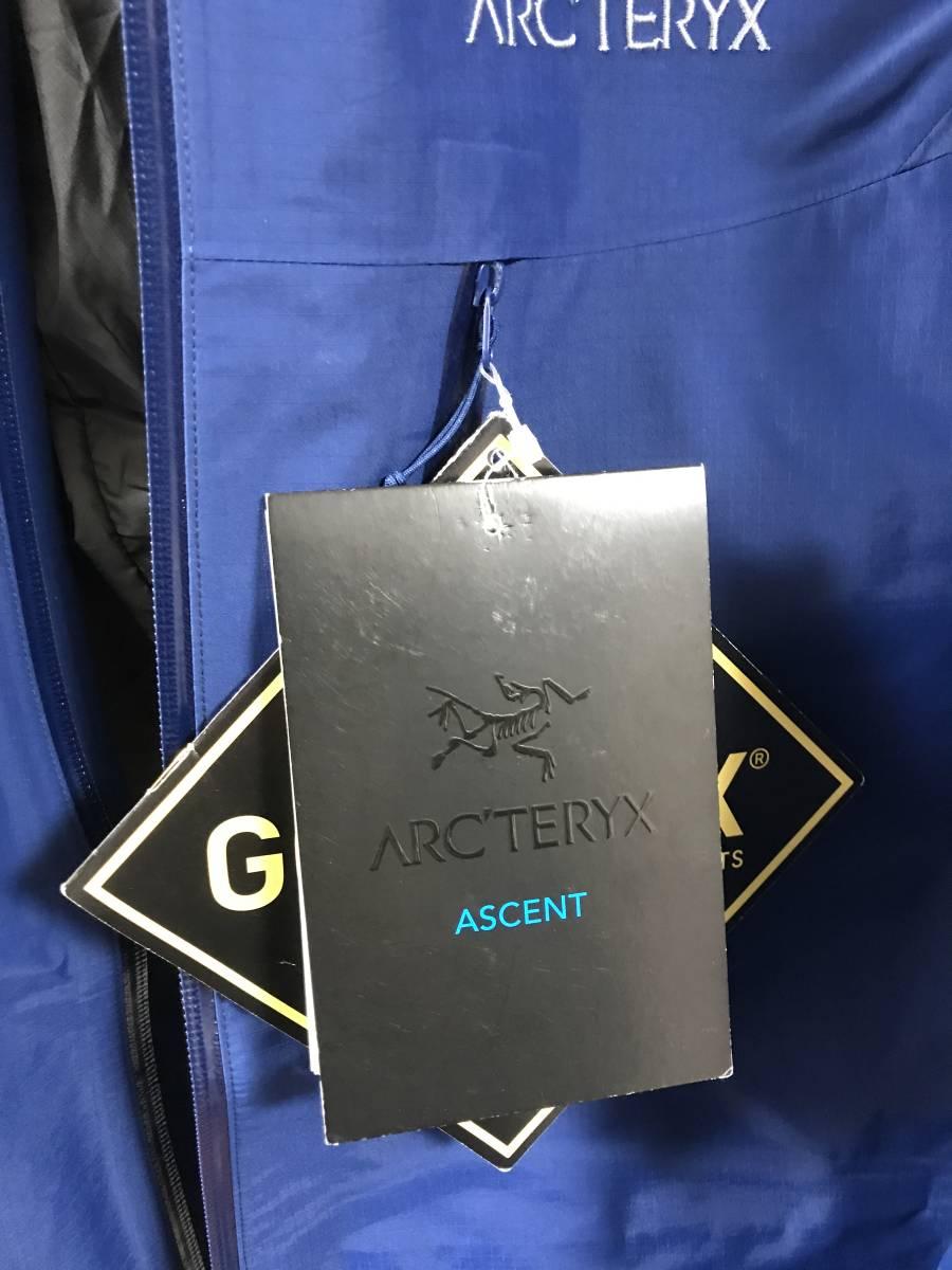 ◆正規品◆新品未使用◆アークテリクス アルファSL ジャケット メンズ M(L) ゴアテックス マウンテンパーカー ブルー 軽量◆定価46440円_画像5